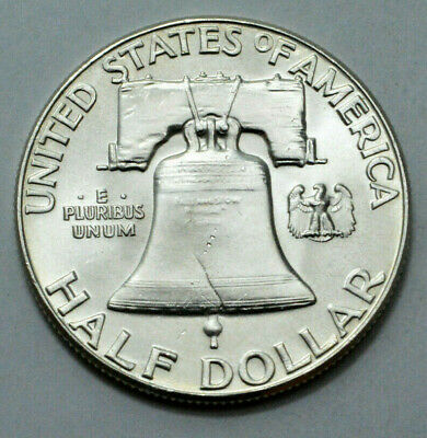 1960-P FBL UNC Franklin Half Dollar  90% Silver Old US Coin, 50c!