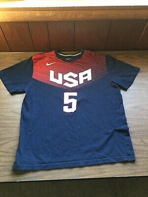 official photos db28f 6fcf6 KEVIN DURANT TEAM USA 5 JERSEY T SHIRT Olympic Basketball Dream Team Nike XL