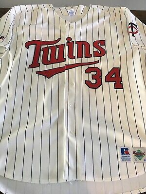 on sale a176d 052ab Kirby Puckett Minnesota Twins Russell Authentic Baseball Jersey 52 XL MLB  Vintag