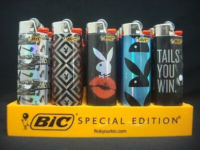8 Bic Playboy Bunny Design Lighters Regular Disposable (1 Lighter Per Design)