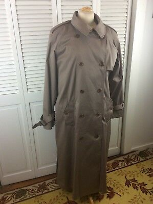 Worthington Womens Trench Coat Wool Lined Beige Size 12T  Belted Made in Poland
