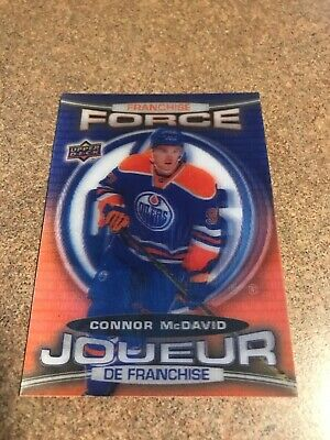 CONNOR MCDAVID FRANCHISE FORCE 2016 2017 Tim Hortons Upper Deck hockey card