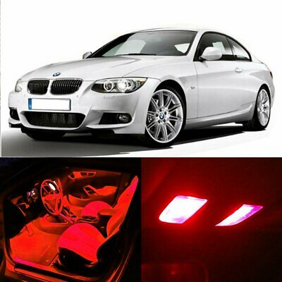 9285dc25eb2 17x Red LED Bulb Interior Package Lights for BMW 5-serie M5 E60 E61 2004