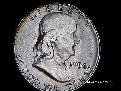 1954-S    Franklin  U.S. Half  Dollar silver  coin  (EXTRA FINE CONDITION)