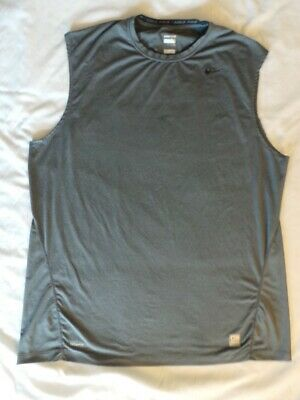 14e4024b8f70 NIKE PRO MEN S Hyperwarm Compression Shirt Sz XL Gray Fitted Warm ...