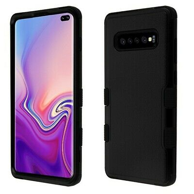 Samsung GALAXY S10+ Plus Hybrid Shockproof Rugged Rubber Protective Case Cover