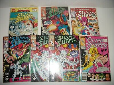 Silver Surfer #1,57,57 with card,58,70,76 Annual #5 Marvel Comics July 1991-Jan