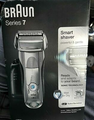 Braun Series 7 7898cc Wet and Dry Cordless Electric Shaver New & Sealed FREEPOST