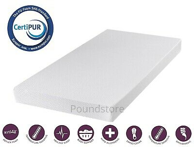 Memory Foam Mattress Luxury 4 Inch Bed Matress Removable Quilted Cover All Sizes
