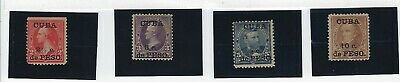 .Caribbean stamps. 1899 Scott 223-26 USA surcharged w/o gum. otherwise F-VF