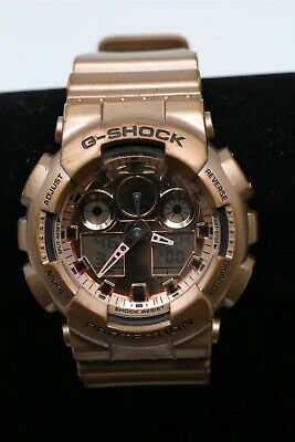 Casio G Shock 5081 Rose Gold GA100-GD Gold / Brown Men's Quartz Watch