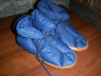 429e592e387 Vintage Eddie Bauer Goose Down   Leather Slippers Size Large Made In Usa ...