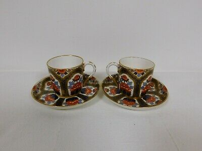 2x Royal Worcester for Tiffany & Co. Porcelain Demitasse Cup and Saucer. 19th