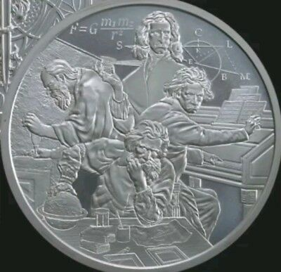 1 oz silver Quadrivium .999 Pure Limited Edition! Beethoven Isaac Newton science