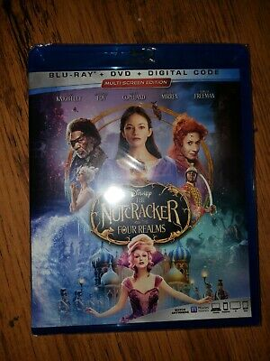 The Nutcracker and the Four Realms (Blu-ray DVD and digital, 2019, 2-Disc Set,