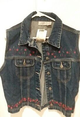 d91ca4e100f86 US Women s Vintage Denim Vest Jean Jacket Waistcoat Sleeveless Punk Jacket  Coats