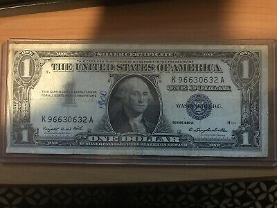1957 One Dollar Well Circulated Silver Certificate Note - $1 Bill (LAMINATED!!)