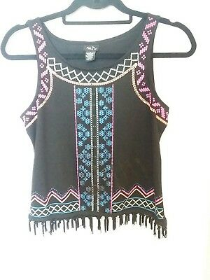 Rue 21 Poof Culture Beads Crop top Size Large L#109