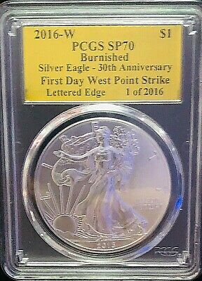 2016 W Silver Eagle Pcgs Sp70 First Day West Point Strike
