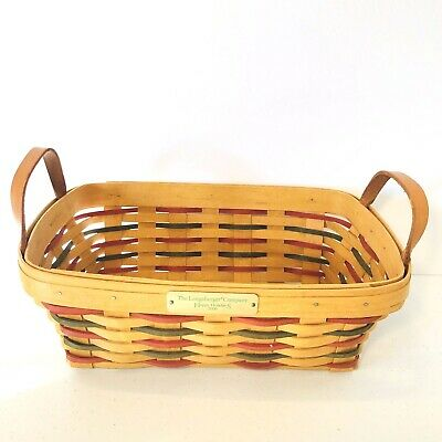 Longaberger Christmas Basket.Longaberger Christmas Red And Green Plaid Snowflakes Tote