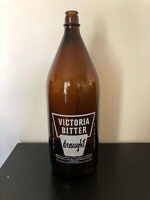 Collectable Victoria Bitter Draught Amber Bottle Crown Seal 80 Fl Oz Darwin NT