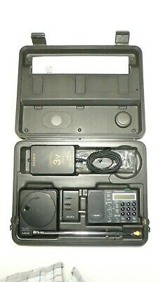SONY ICF-SW1S SW AM FM Full set, working with headphones, AS-IS!