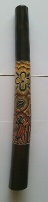 Wooden didgeridoo - aboriginal art - 60cm