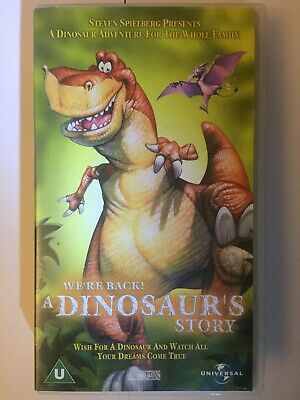WE'RE BACK! A Dinosaurs Story - VHS Video Tape Cassette