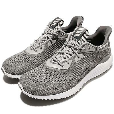 e87b76f51a7dc adidas Alphabounce EM M Engineered Mesh Grey White Men Running Shoes size 10