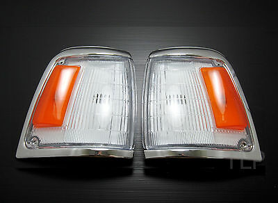 FOR 88 - 97 TOYOTA HILUX LN100 2WD CHROME INDICATOR CORNER LIGHT PAIR FRONT 4x2