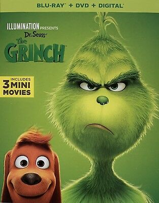 THE GRINCH ~ Blu-Ray + DVD + Digital *New *Factory Sealed