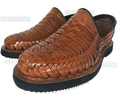37482ad3f1e3f MENS CLOSED TOE LEATHER shoe SANDALS brown HUARACHE *ALL SIZES * made in  mexico