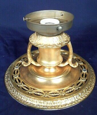 Antique Art Nouveau Art Deco Gold Gilt Brass-Bronze Ceiling Light
