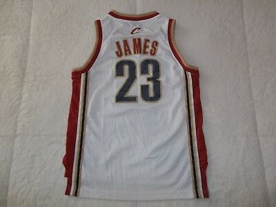 the latest 6d6dc 397d5 SEWN LEBRON JAMES #23 CLEVELAND CAVALIERS REEBOK JERSEY YOUTH BOYS MEDIUM  10-12