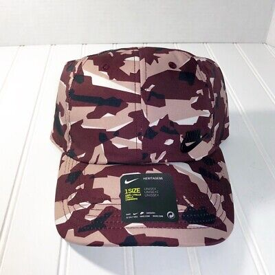 75c778629 NIKE HERITAGE 86 Camo Metal Logo Unisex Cap / Hat NEW Adjustable H86 ...