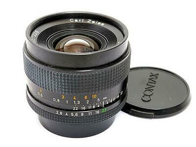 Contax Carl Zeiss Distagon 35mm F2.8 T* MMJ Prime Lens Excellent from Japan F/S