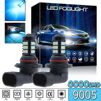 2x 30SMD Ice Blue H10 9145 3030 LED Fog Daytime Running Light Bulbs Driving Lamp