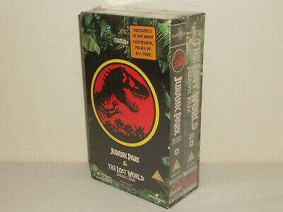 Sealed Jurassic Park & The Lost World Original Double VHS Pack (1992)
