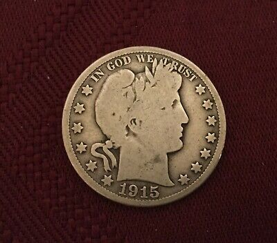 1915 D BARBER HALF DOLLAR Cheap Pricing LOW MINTAGE SILVER