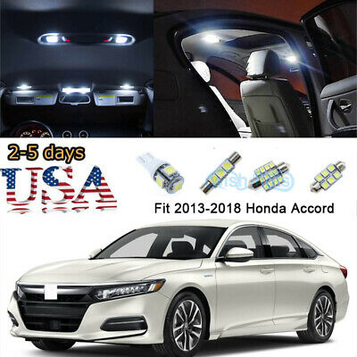 16x Red Interior License Plate LED Lights Package Kit Fit 2013-2018 Honda Accord