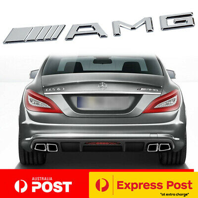 AMG Mercedes-Benz CHROME Badge Emblem Trunk Boot Sticker C63 CLA45 A45 E63