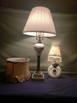 Antique Shabby Chic Lamp Vintage Shabby Chic Wall Sconce Edward Alden Shade