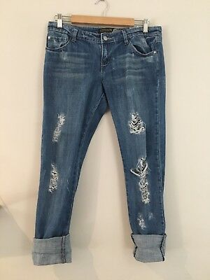 Blue Ripped Jeans Size 10