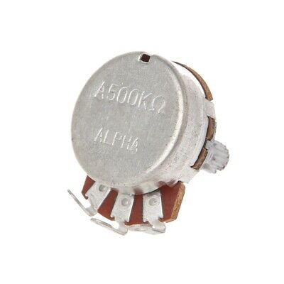 New A500K OHM Metal Audio POTS Potentiometer 24mm Electric Guitar Base Replace