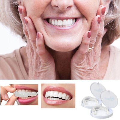 2pcs Unisex Snap On Perfect Smile Veneers Smile Instant Teeth Cosmetic Covers