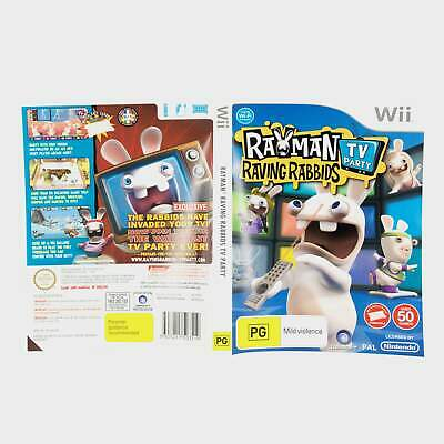 Rayman Raving Rabids Tv Party Wii Sleeve