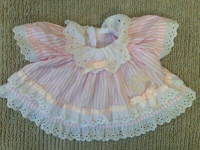 My Child Doll Clothes - VHTF '88 Pink Stripe Flare Dress ~ Please Read.