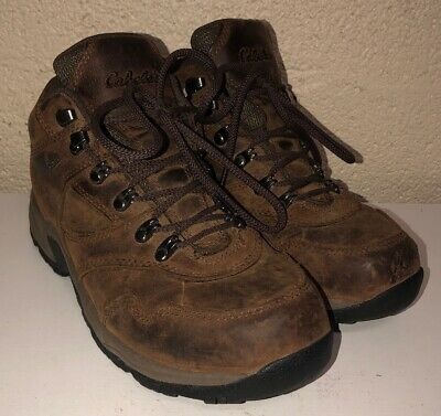 533ce97e312 CABELAS MENS BROWN Leather Hiking Boots Size 9.5D