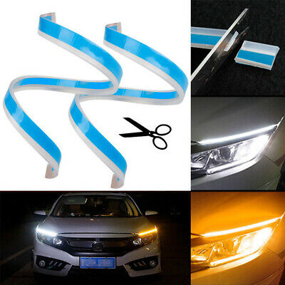 "2PCS 60cm/24"" LED Strip Indicator Turn Signal DRL Daytime Running Light LD1847"