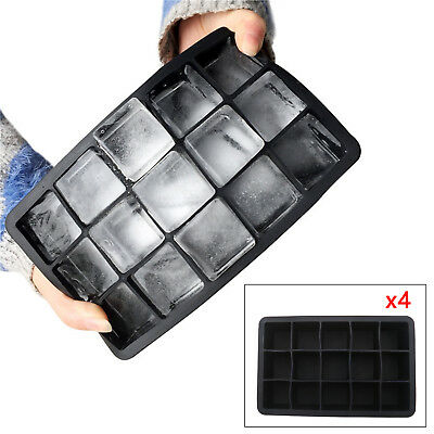 4X Silicone  Ice Cube Mold Jumbo Cube ice Maker Giant Cube For Bar Home Party
